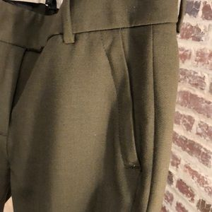 J. Crew olive green Campbell trouser